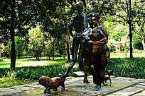 休闲人物雕像