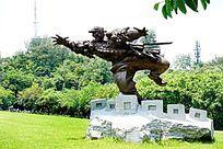 战士石雕像
