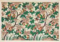 传统纹样花卉图案