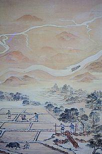 古代农民耕种画