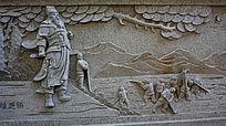 古代人物风景壁画