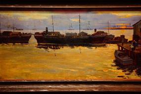海上风景油画