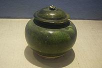 绿釉盖罐文物古董
