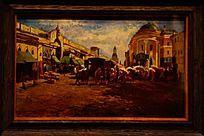 欧洲建筑风景油画