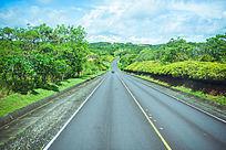 帕劳北岛蜿蜒的马路