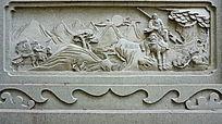 战马人物壁画