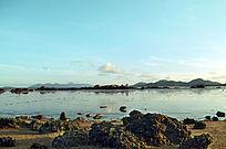 美丽的大海沙滩贝壳风景图片