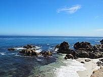 美丽景色的海滩