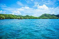 帕劳旅游风光的青山碧水
