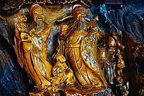 寿星木雕像