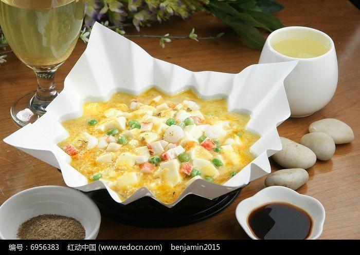 蟹粉酿豆腐图片