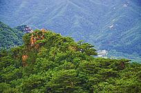 千山唐代古城俯视近山山峰山脉
