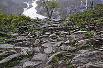山间的石头小路