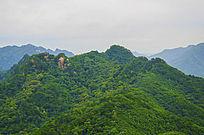 唐代古城看千山山峰山脉与白云