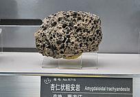 黑龙江产杏仁状粗安岩