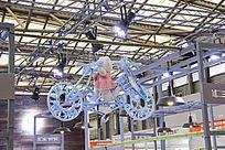 展会吊挂自行车