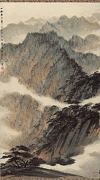 傅抱石《蜀山图》高清国画