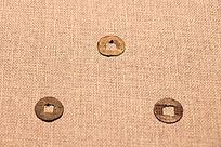 汉文帝鎏金四铢半两铜钱