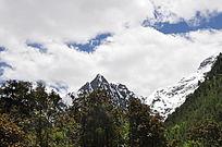 美丽的西藏雪山山脉