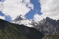 美丽的喜马拉雅雪山