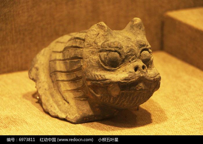 南汉时陶蹲兽图片