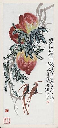 齐白石《多寿图》高清国画