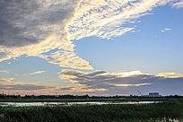 湿地天空彩云