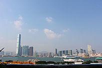 港口码头游艇和高楼大厦