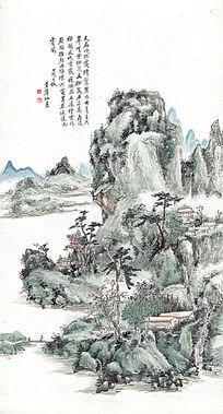 黄宾虹《山水图》高清国画