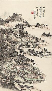 黄宾虹《西冷湖山图》高清国画