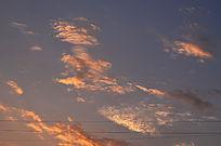 金色的彩霞风景图片
