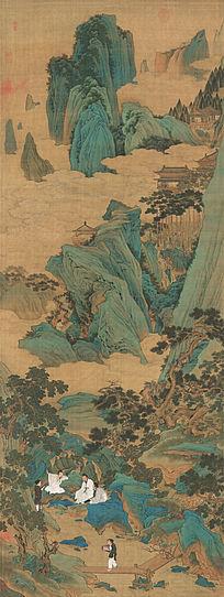 明 仇英《桃源仙境图》古代名画