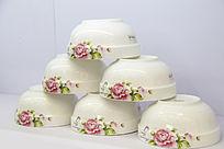 富贵牡丹印花瓷碗