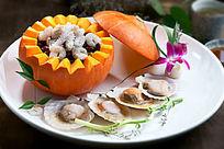 金瓜鲍汁烩海鲜