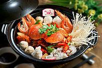 老虎蟹海鲜锅