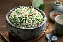 石锅咸肉菜饭