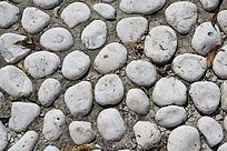 白色河卵石背景素材