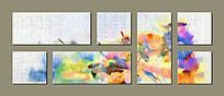 抽象油画 壁画 背景墙
