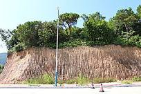 挖掘机挖过的山丘