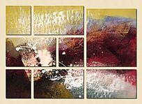 艺术背景墙 现代简约 涂鸦
