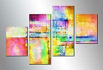 组合抽象画  拼套画 抽象装饰画