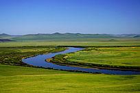 牧场河湾自然景观