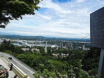 鸟瞰城市公园景观