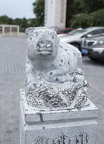 柱头牛雕塑雕刻