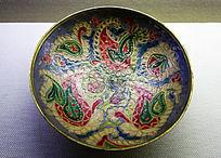 俄罗斯黄铜挂彩盘子