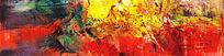 抽象油画高清图 软装配画