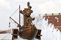 蒸汽船米奇喷泉