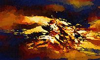 复古抽象油画壁画背景墙