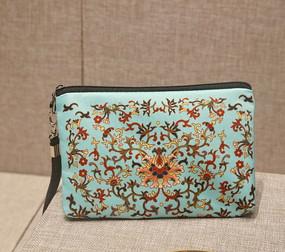 古代花纹图案手包