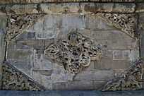 古代龙纹图案石雕壁照